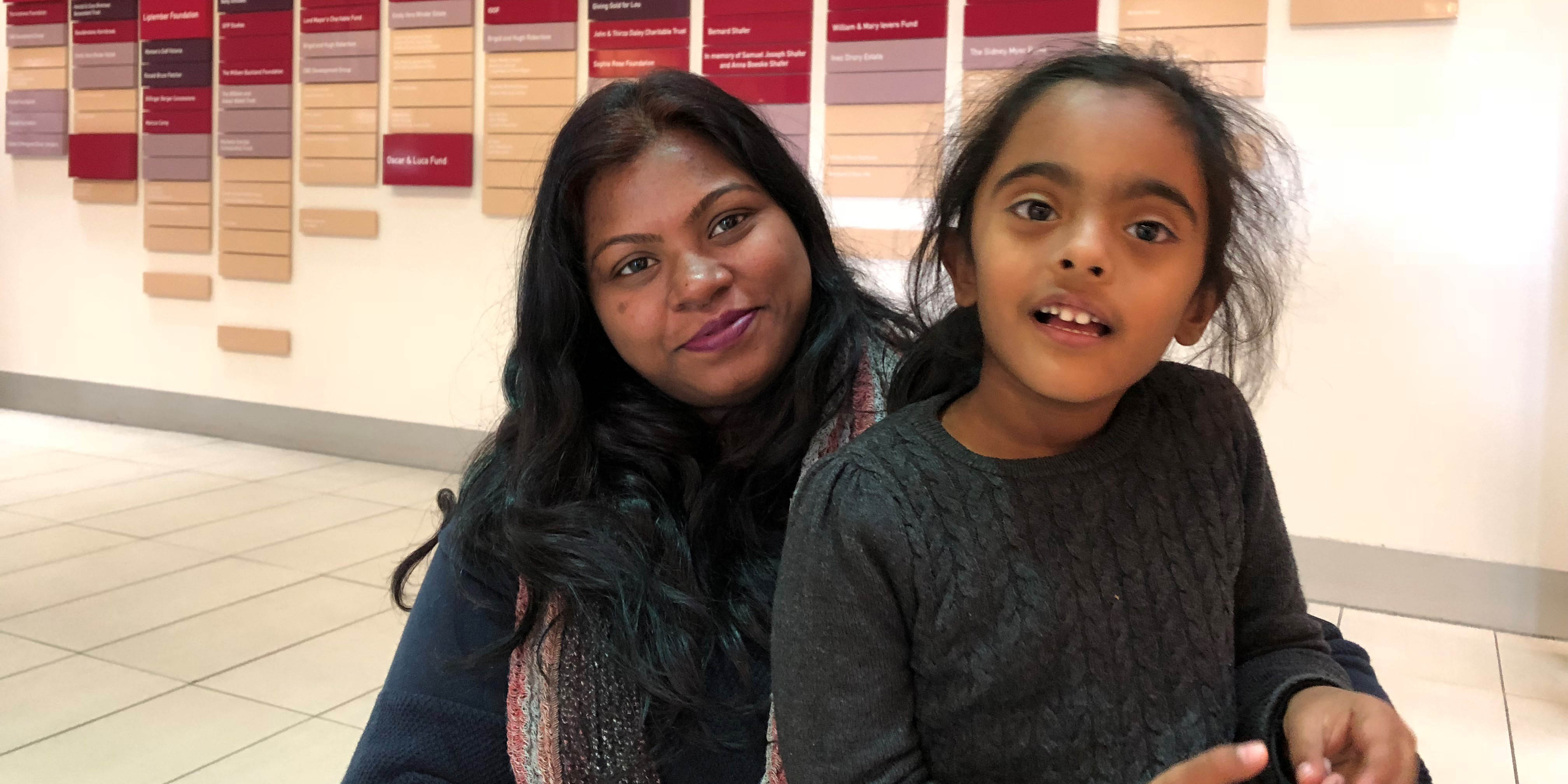 Mum Kavita experienced six miscarriages before having her daughter Aradhana early at 28 weeks. She had the cervical stitch procedure after Aradhana's birth and is now almost 28 weeks pregnant with another baby girl.
