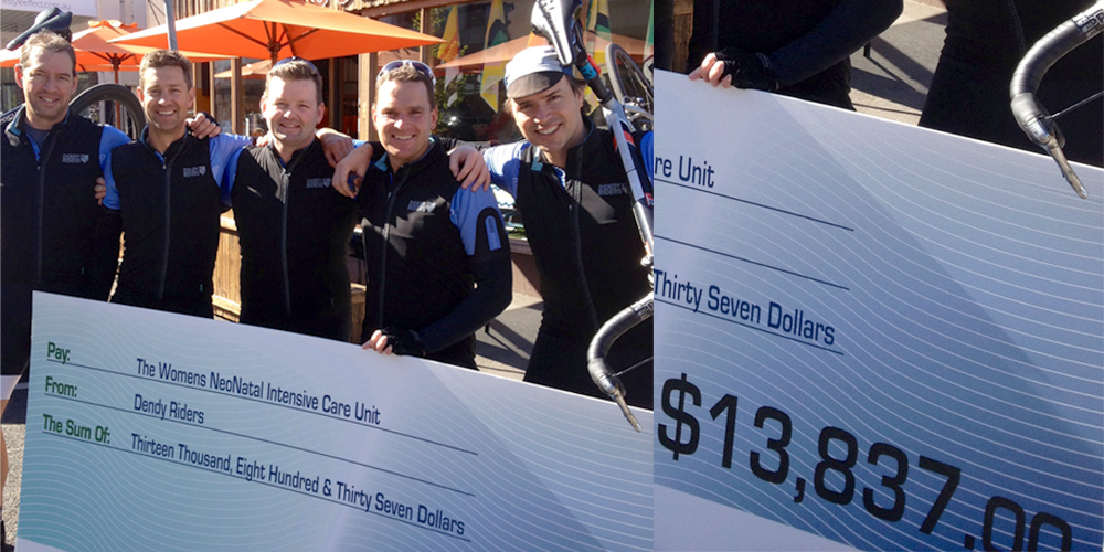 The Dendy Riders helped to raise more than $13,000 for the Women's NISC thta will help buy a specialist neonatal ultrasound