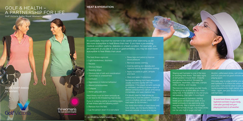 Golf and health - booklet