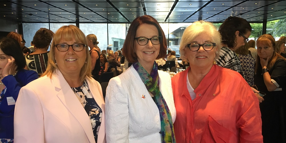 Former Prime Minister Julia Gillard has delivered an inspirational speech at the Women's International Women's Day breakfast.