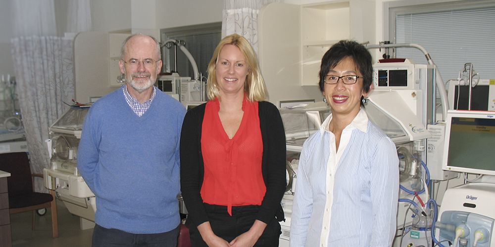 Joint effort: Prof Lex Doyle, Dr Jennifer Walsh and A/Prof Jeanie Cheong