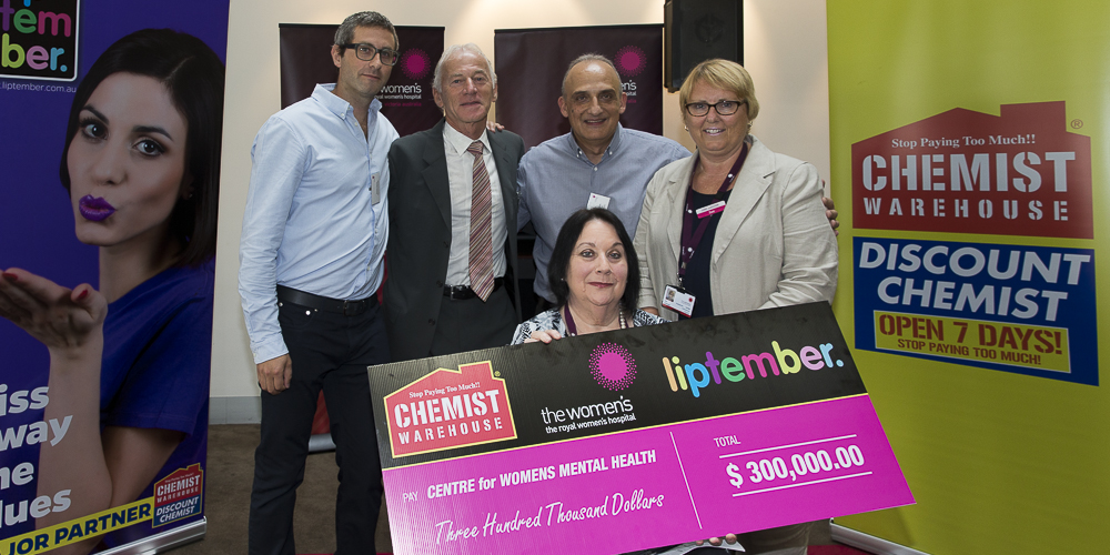 The Women's Foundation presented with a $300,000 cheque for the NBO program