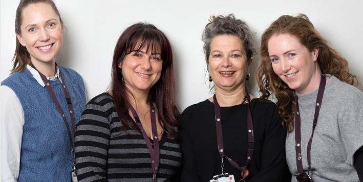 Social workers Amanda Styles, Lisa D'Acri, Penelope Vye, Anne Breen