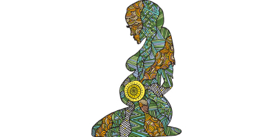 Pregnant woman - Koori artwork