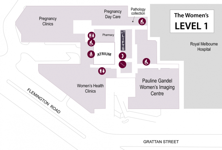 Map of Level 1 of the Women's